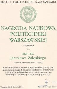 Nagroda Naukowa Politechniki Warszawskiej
